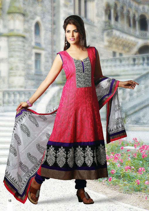 Alluring Hot Pink Stylish Designer Anarkali D 19-18