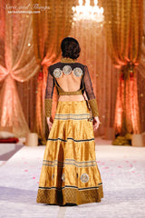 Black and Gold Lehenga Choli