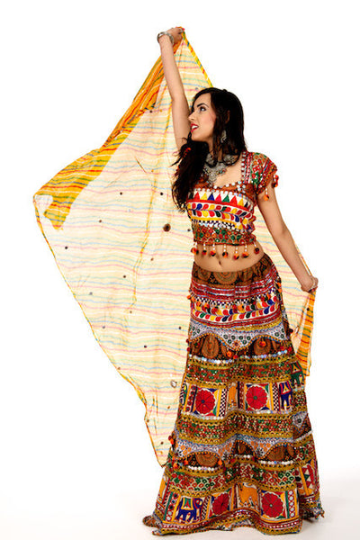 Funky Maiden Yellow Chania Choli Saris And Things