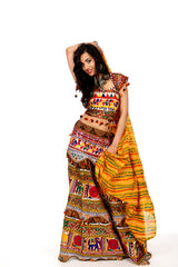 Funky Maiden - Yellow Chania Choli