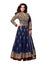 Elegant Blue Net and Gold Embroidery Anarkali Churidar - Buy