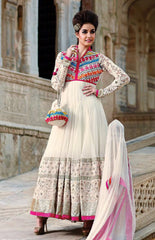Flirty White Anarkali