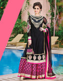 Captivating Black and Pink Anarkali