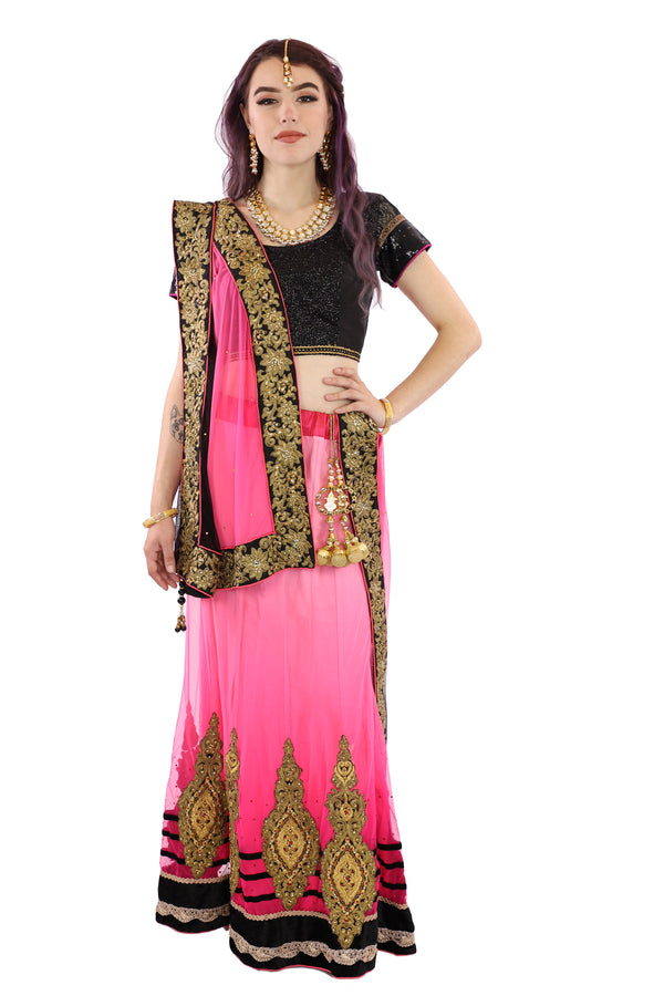 Lady Of The Night Sultry Lehenga - 9406