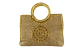 Beautiful Bronze Medallion Indian Party Purse