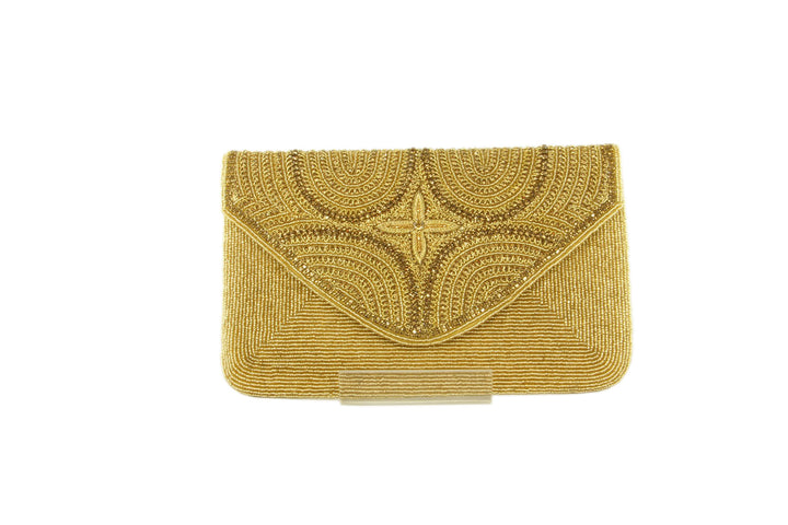 Shimmering Star Ribbed Rhinestone Evening Clutch