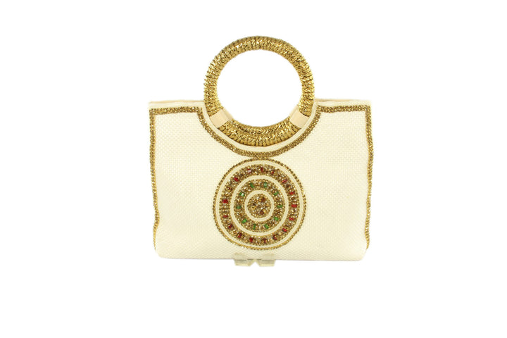 Ivory Medallion Indian Party Purse
