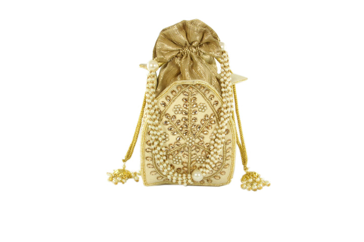 Glamorous Pearl Potli Style Evening Party Purse
