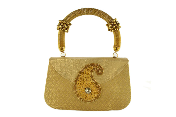 Golden Radiance Indian Party Purse