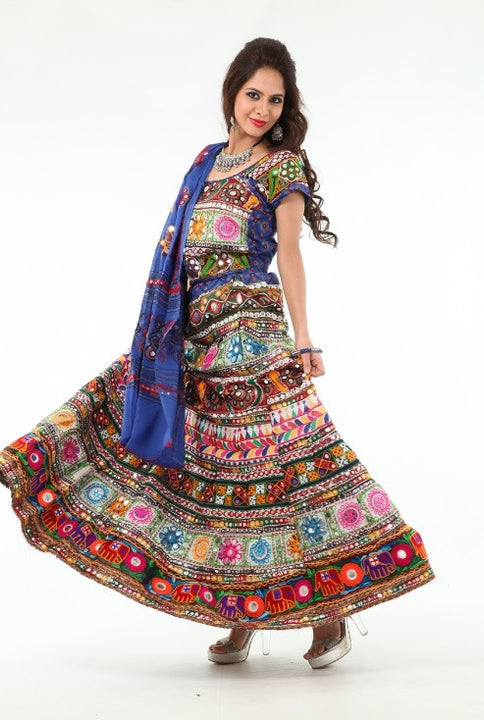 Dancing Diva Multi Color Mirror Work Chania Choli