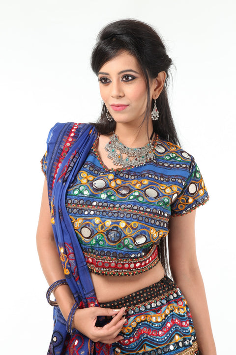 Charming & Lively Multi Color Mirror Work Chania Choli