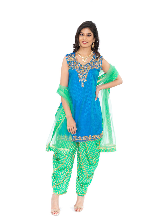 Arabian Nights Festive Wedding Patiyala Suit