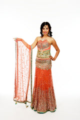 Dazzling Bridal Lengha for Wedding Reception