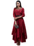 Ritu Kumar Red Embroidered Asymmetric Chanderi Kurta Dress
