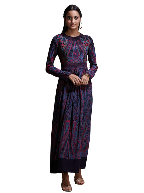 Ritu Kumar Purple Embroidered Kurta Dress