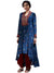 Ritu Kumar Navy Blue Mirror-Work Kurta