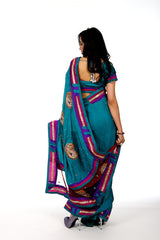 Kairi Icy Blue Saree