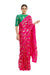 Masaba Fuchsia Tropical Banana Saree With Green White Rabbit Blouse Piece