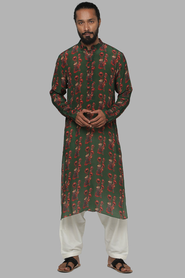 Masaba Gupta Green Nomads Kurta Pajama for Men MMW20101
