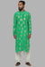 Masaba Gupta Green Comb Kurta With Ivory Pants MMW20110