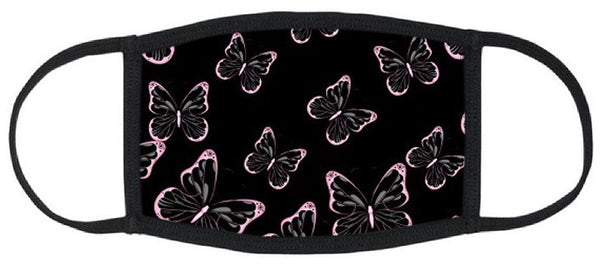 Heavenly Butterflies Reusable Face Mask - Womens Washable Triple Layer Breathable Cotton Fabric - Limited Supply