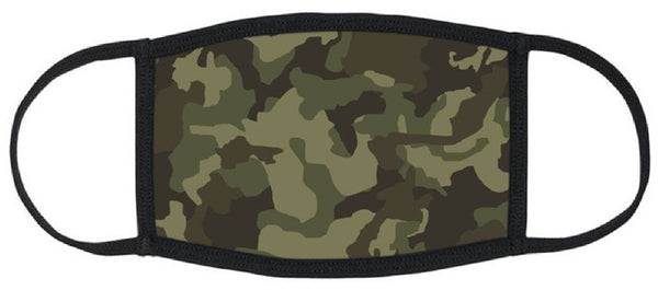 Camo Reusable Face Mask - Unisex Washable Triple Layer Breathable Cotton Fabric - Limited Supply