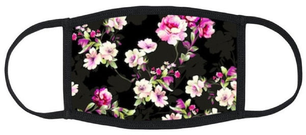 Spring Blooms Reusable Face Mask - Womens Washable Triple Layer Breathable Cotton Fabric - Limited Supply