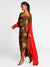Masaba Gupta Brown Of Birds And Bees Cowl Dress With Ombre Cape