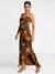 Masaba Gupta Brown Of Birds And Bees Cowl Dress
