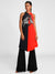 Masaba Red Horse Half & Half Flared Tunic With Black Pants