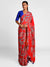 Masaba Red Wildflowers Sari Blouse Piece