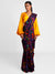 Purple Patch Sari With Yellow Blouse Piece