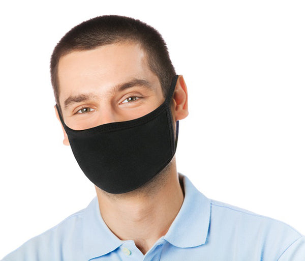 2 Pack Reusable Face Mask - Unisex Washable with 2 Layers Breathable Cotton Fabric - Made in USA