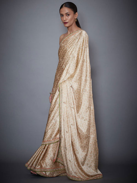 RI-Ritu-Kumar-Beige-Embroidered-Saree-With-Unstitched-Blouse-Side-View1