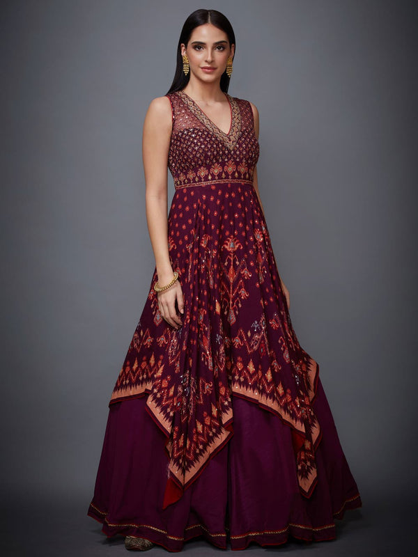 RI Ritu Kumar Prune Ikat Dress