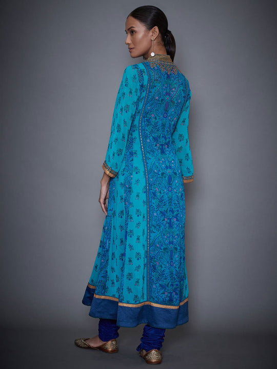 RI-Ritu-Kumar-Royal-Blue-And-Turquoise-Embroidered-Suit-Set-Back