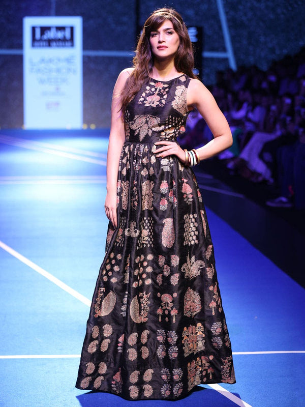 RI Ritu Kumar Black Embroidered Dress