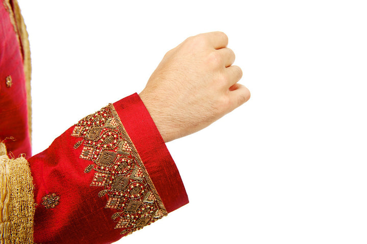 Rich Red Sherwani for Men Size 40