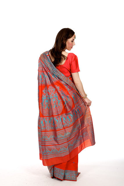 Rosy Red - Silk Saree