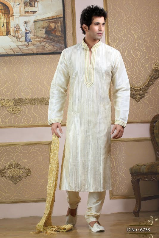 Groomsmen Kurtas with Custom color stole
