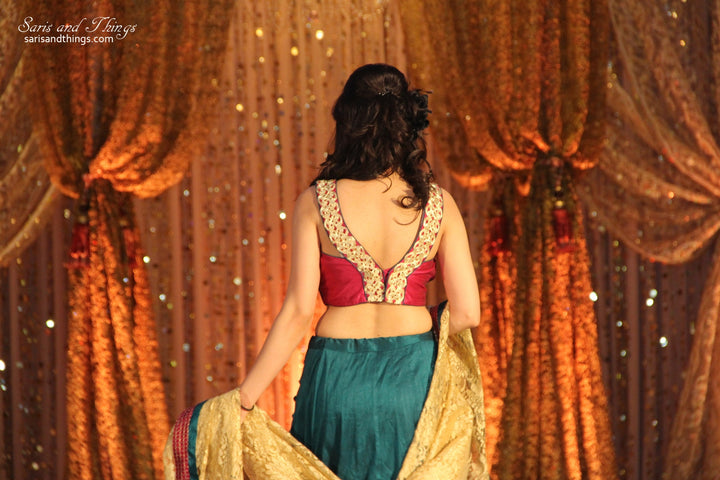 Green and Pink Lehenga Choli
