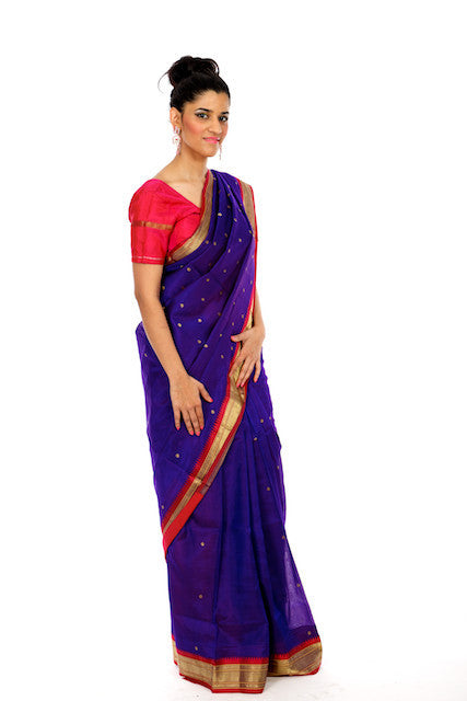 Royally Blue - Silk Saree