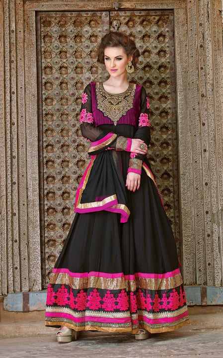 Pretty In Pink Floor Length Anarkali Gown