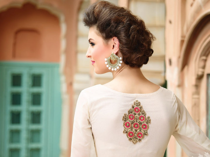 Peachy Keen Anarkali Gown With Palazzo Pants