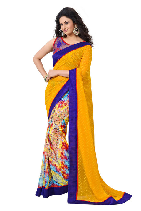 Mesmerizing Graphic Printed Stylish Designer Saree D-205