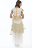 Sensual & Modern White and Gold Anarkali Gown