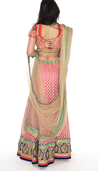 Gorgeous Pink and Gold Lehenga