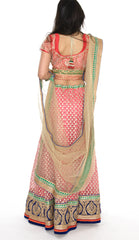 Gorgeous Pink and Gold Indian Wedding Lehenga