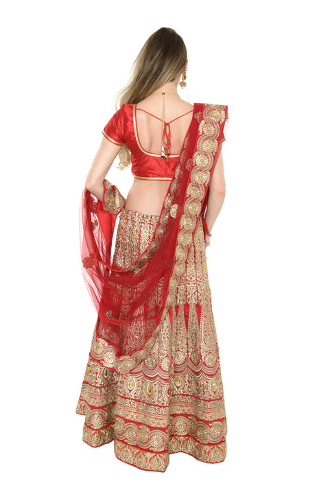 Stunning Red and Gold Indian Wedding Lehenga