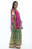 Captivating Emerald and Pink Lehenga